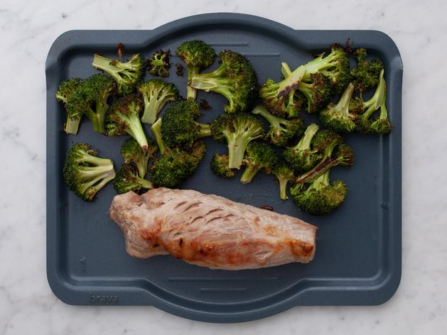 Pork Tenderloin and Broccoli wide display
