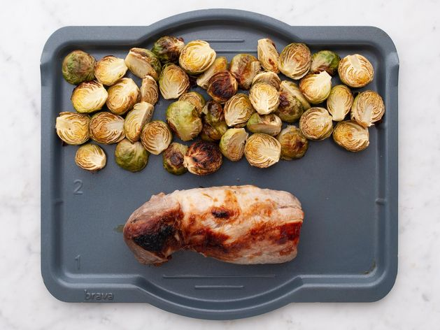 Pork Tenderloin and Brussels Sprouts wide display