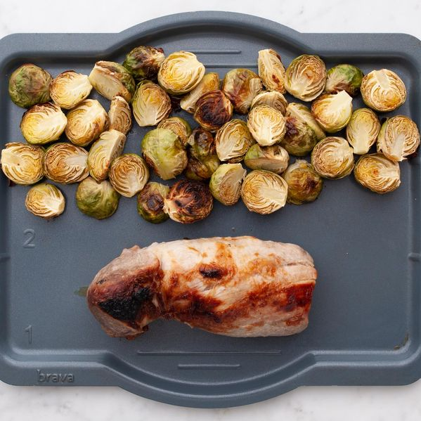 Pork Tenderloin and Brussels Sprouts narrow display
