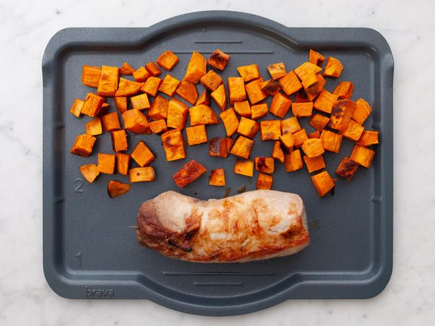 Pork Tenderloin and Sweet Potatoes wide display