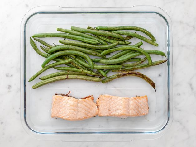Salmon (Skinless) and Green Beans wide display
