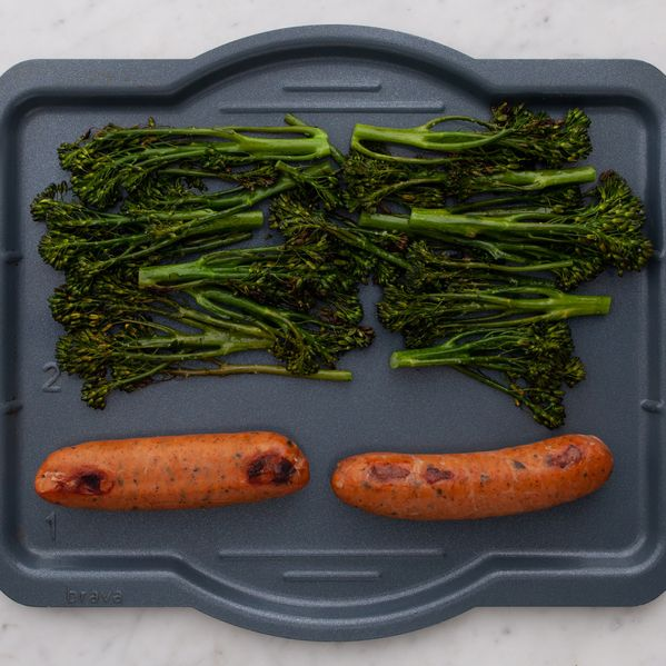 Precooked Sausages and Baby Broccoli narrow display