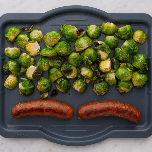 Precooked Sausages and Brussels Sprouts narrow display