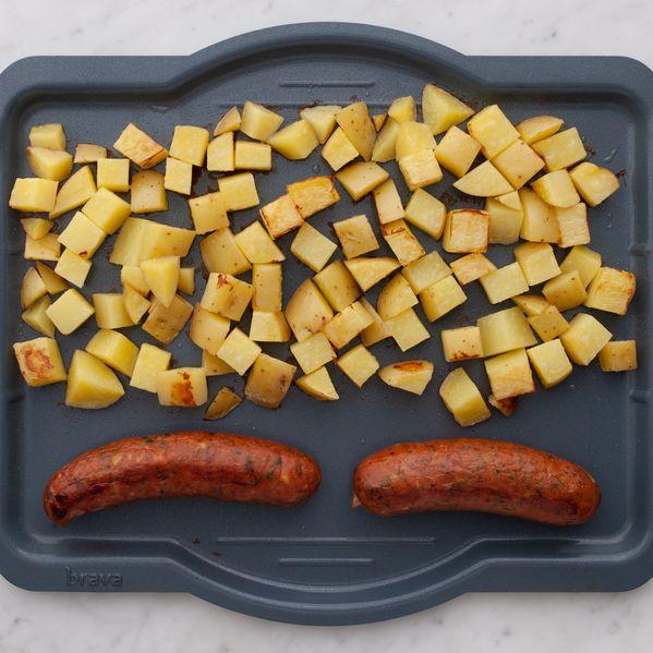 Fresh Sausages and Potatoes narrow display