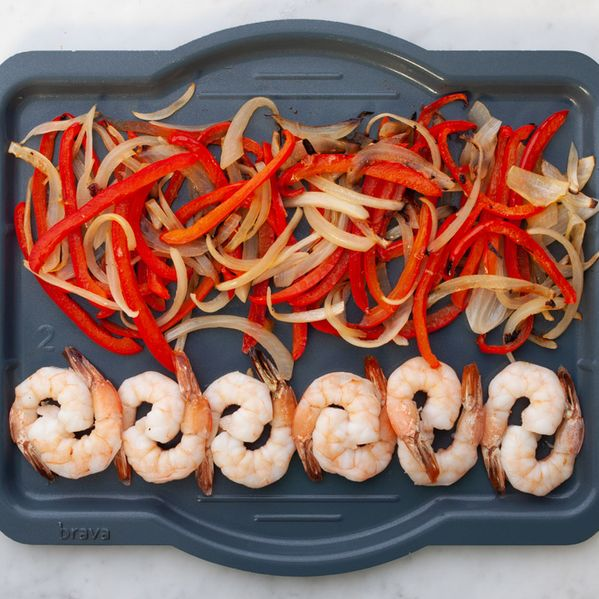 Shrimp with Onions and Peppers narrow display