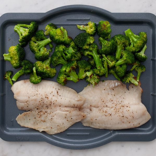 Tilapia and Broccoli narrow display