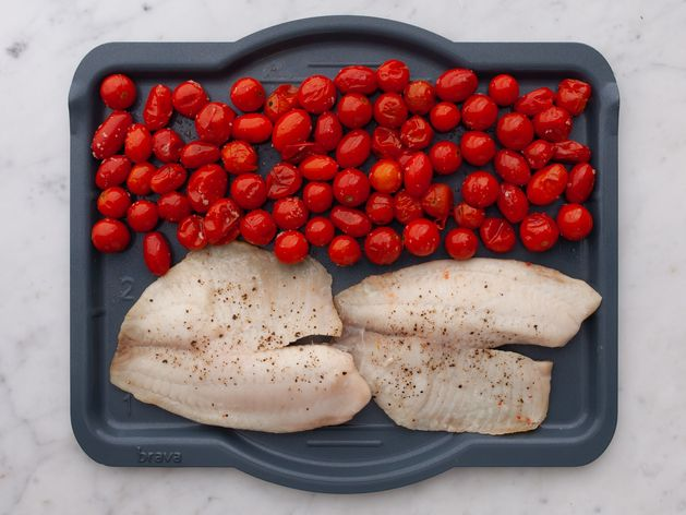 Tilapia and Cherry Tomatoes wide display