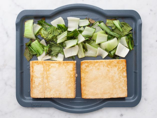 Tofu and Bok Choy wide display
