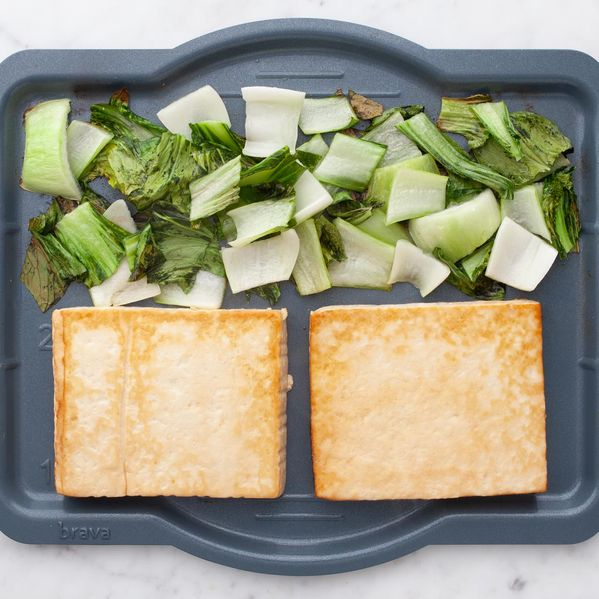 Tofu and Bok Choy narrow display