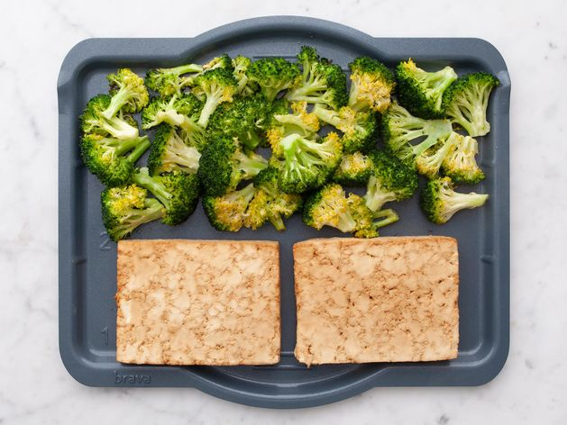 Tofu and Broccoli wide display
