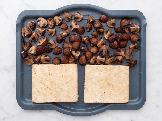 Tofu and Cremini Mushrooms wide display