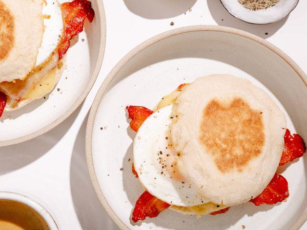 Bacon, Egg & Cheese Breakfast Sandwich wide display