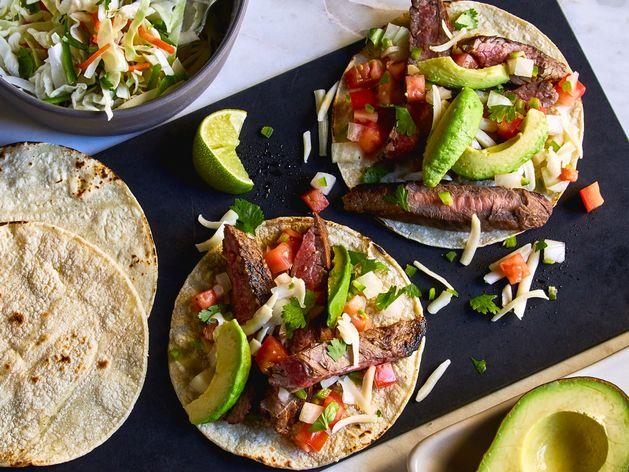 Carne Asada Tacos wide display