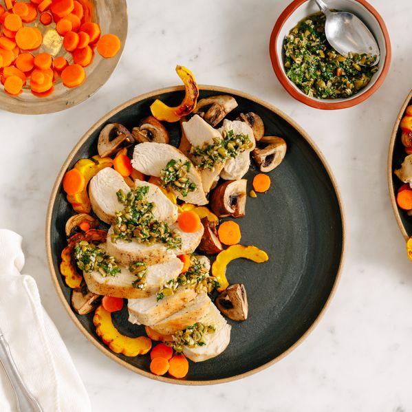 Chicken, Delicata, and Mushroom narrow display