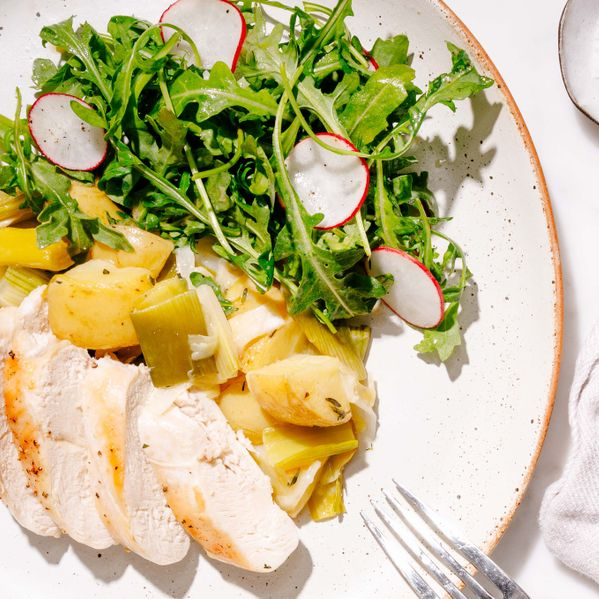 Chicken Breasts with Potatoes and Leeks narrow display