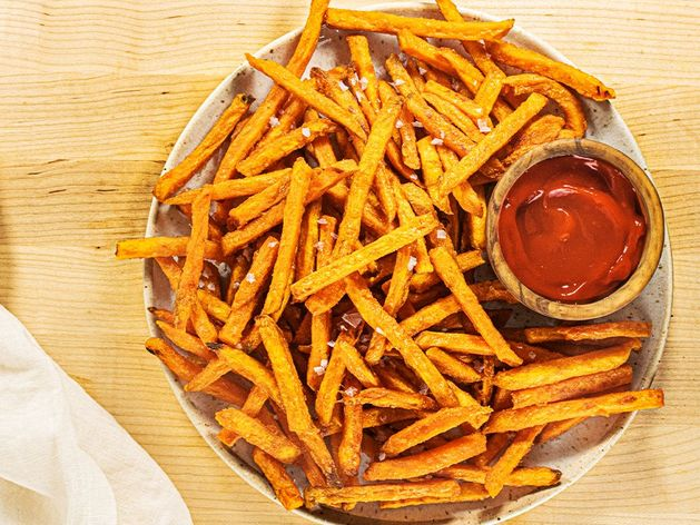 Sweet Potato Fries with Maple Chipotle Ketchup wide display