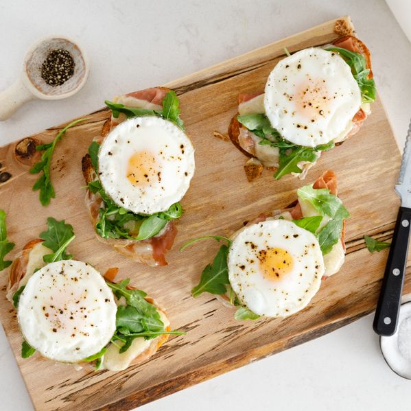 Open-Faced Prosciutto and Egg Sandwich narrow display