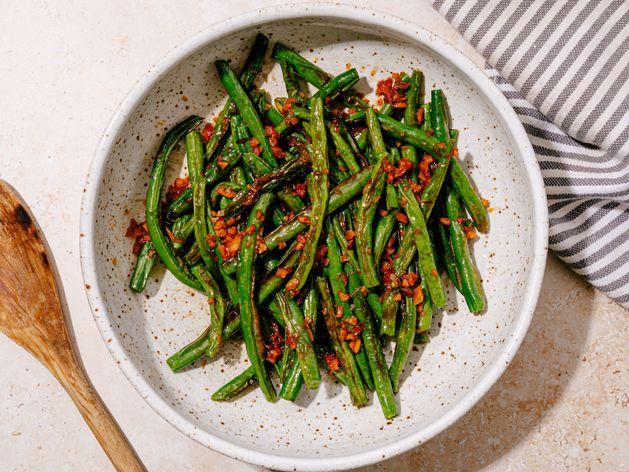 Szechuan Garlicky Green Beans
