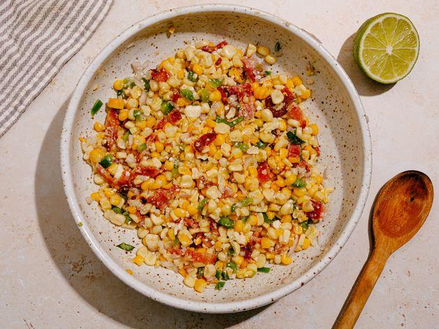 Charred Corn Salad with Bacon and Jalapeño wide display