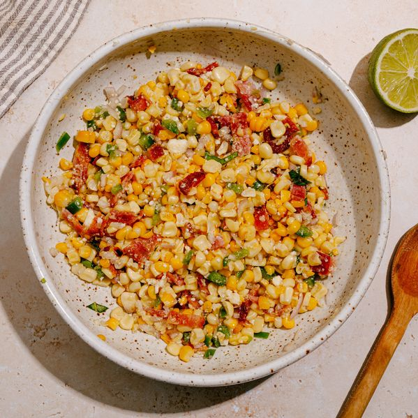 Charred Corn Salad with Bacon and Jalapeño narrow display