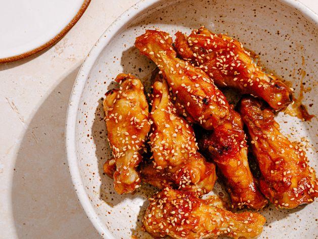Teriyaki Chicken Wings wide display