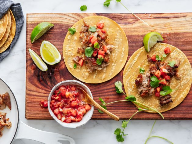 Good Eggs Carnitas Tacos wide display