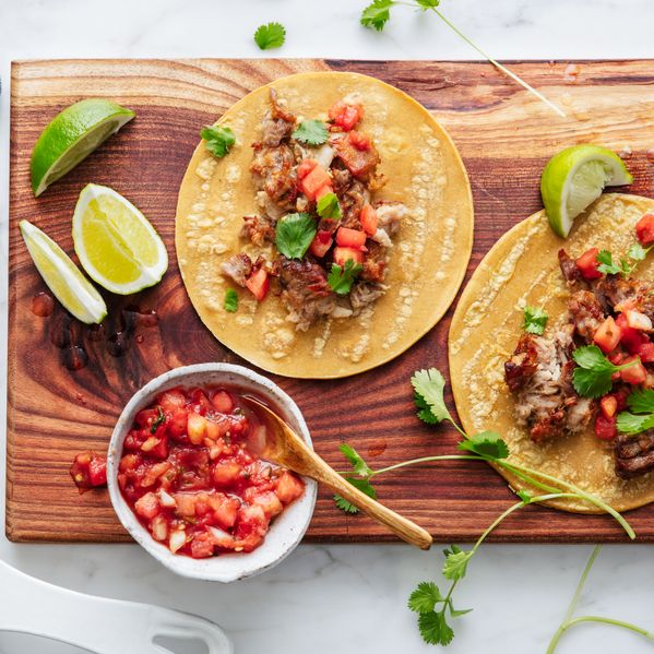 Good Eggs Carnitas Tacos narrow display