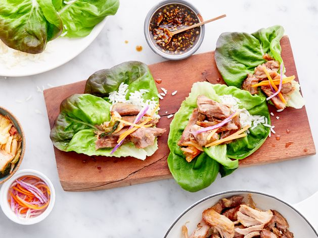 Korean Pork Lettuce Cups wide display