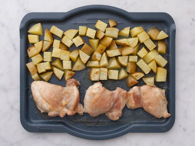 Chicken Thighs (Boneless and Skinless) and Yukon Gold Potatoes wide display