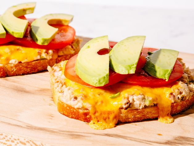 Open-Faced Tuna Melt wide display