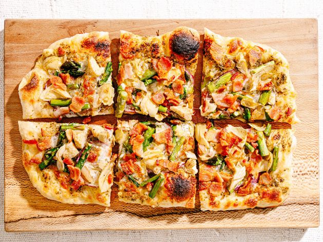 Spring Flatbread Pizza wide display