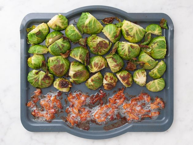 Bacon and Brussels Sprouts wide display