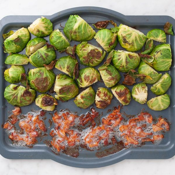Bacon and Brussels Sprouts narrow display