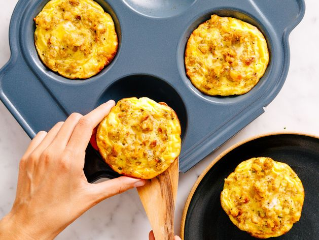 Leftover Stuffing Frittatas wide display