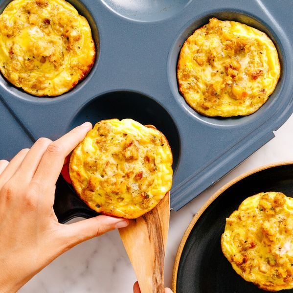 Leftover Stuffing Frittatas narrow display