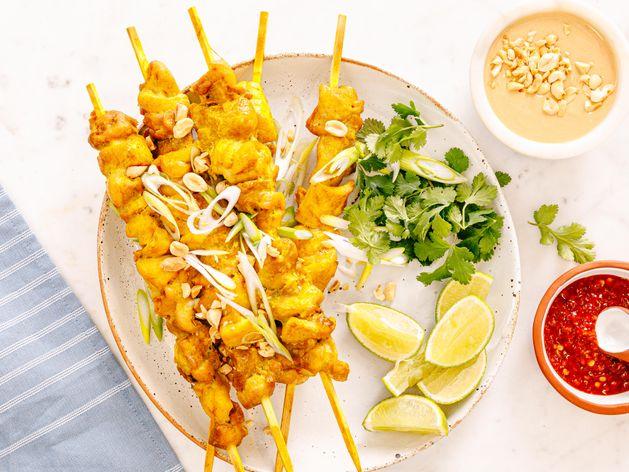 Thai-Style Chicken Satay wide display