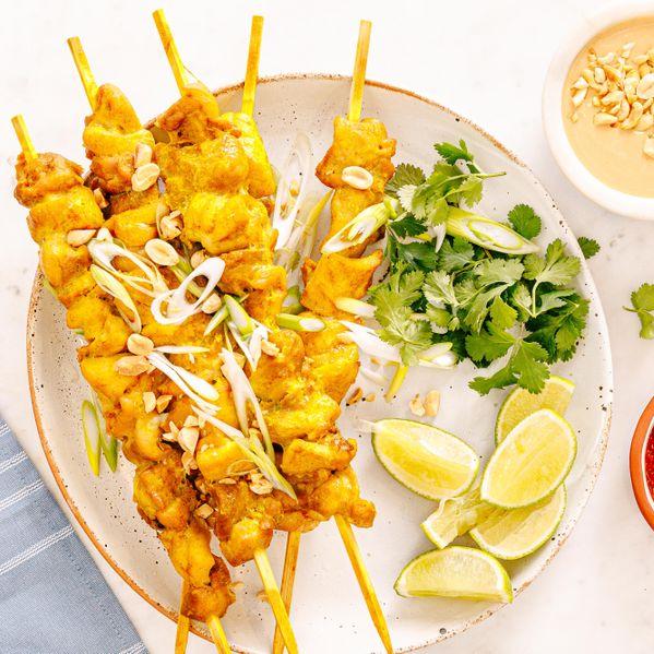 Thai-Style Chicken Satay narrow display