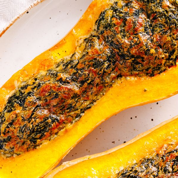 Spinach and Cheese Stuffed Butternut Squash narrow display