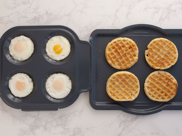 Eggs and Frozen Waffles
