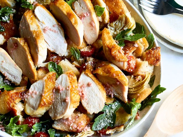 Roasted Chicken Panzanella wide display