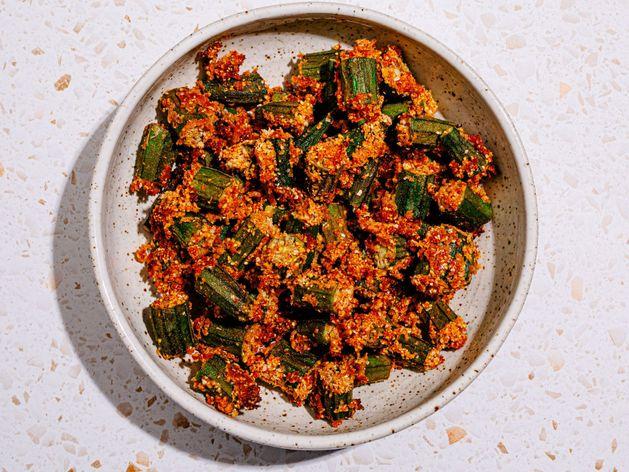 Air-Fried Okra wide display