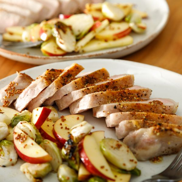 Pork Chops with Brussels Sprouts and Apples narrow display