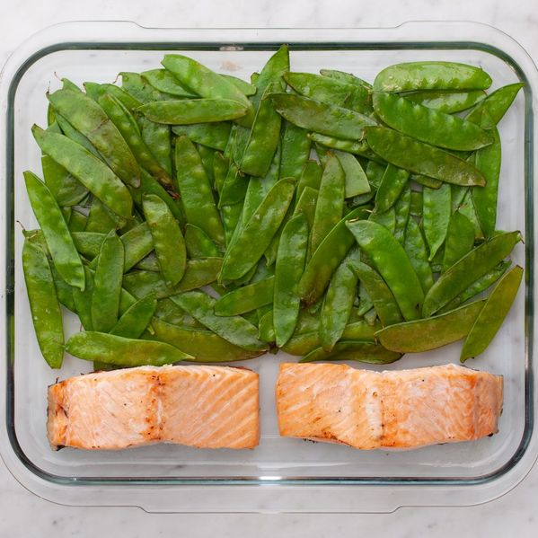 Salmon (Skinless) and Snow Peas narrow display
