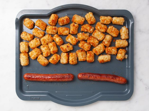 Hot Dogs and Frozen Tater Tots wide display