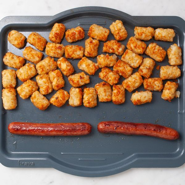 Hot Dogs and Frozen Tater Tots narrow display
