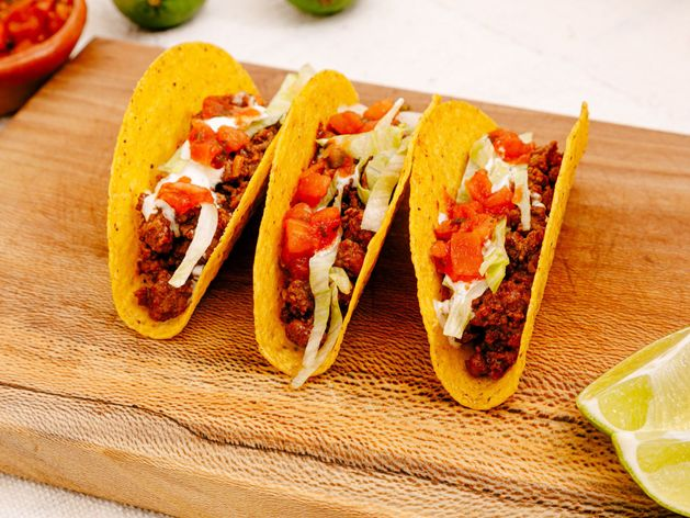 Crunchy Ground Beef Tacos wide display