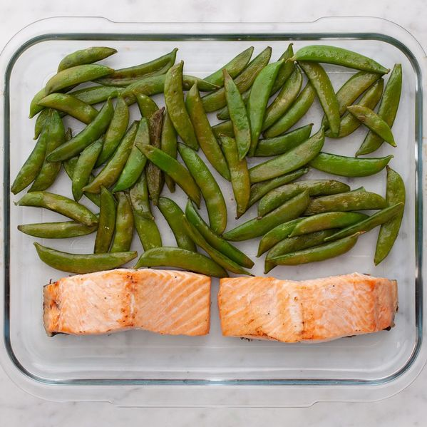Salmon (Skinless) and Snap Peas narrow display