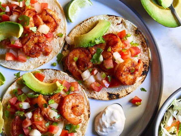 Chipotle Shrimp Tacos wide display