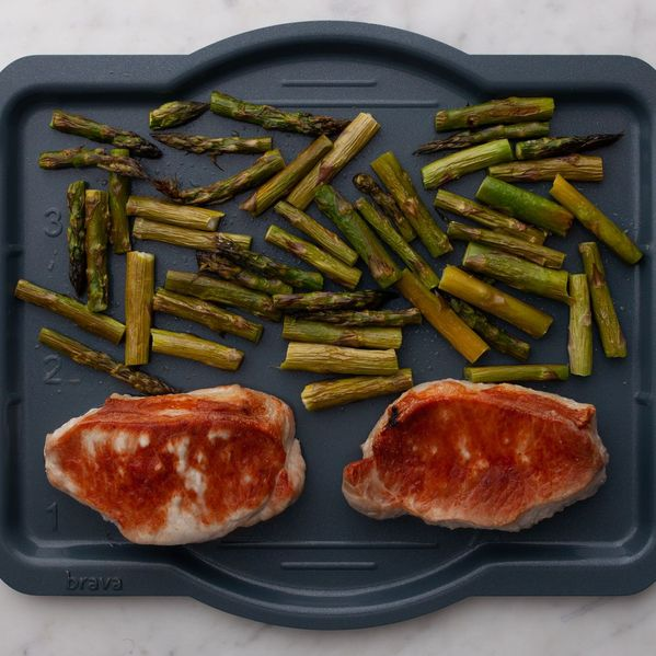 Pork Chops (Boneless) and Asparagus narrow display
