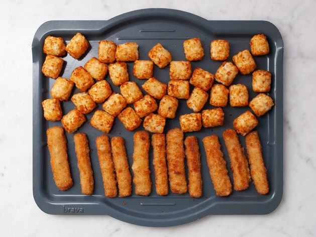 Frozen Fish Sticks and Frozen Tater Tots wide display